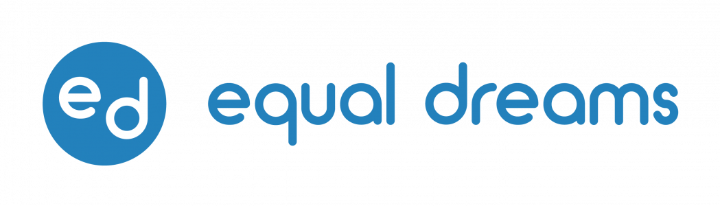 Equal Dreams Logo in Blue circle with equal dreams text