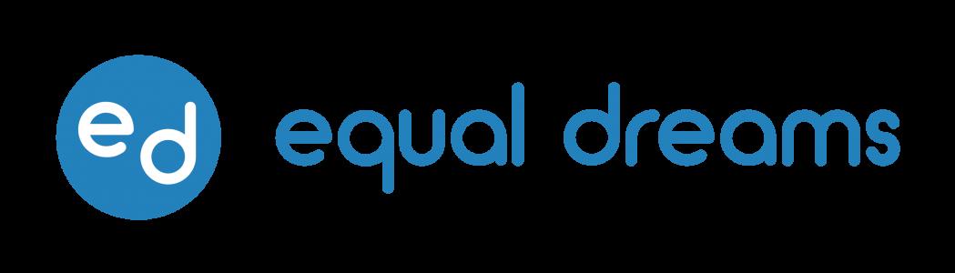 Equal Dreams Logo in Blue circle with equal dreams text